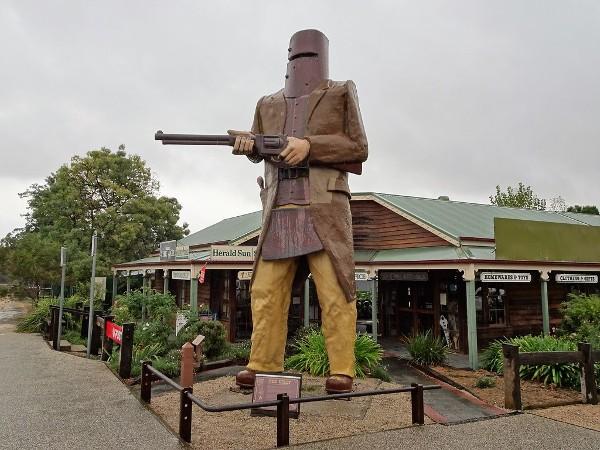 statua di Ned Kelly