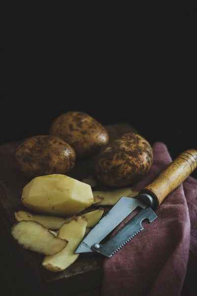 Patata sbucciata