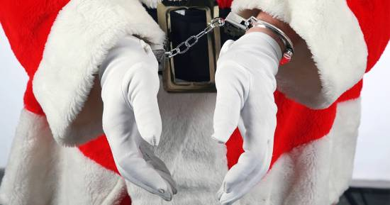 Babbo Natale in manette