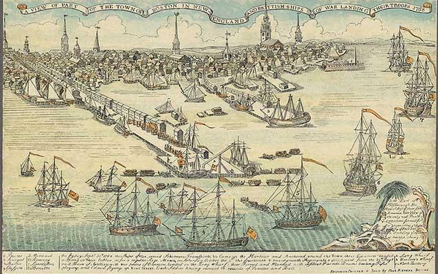 Il porto di Boston