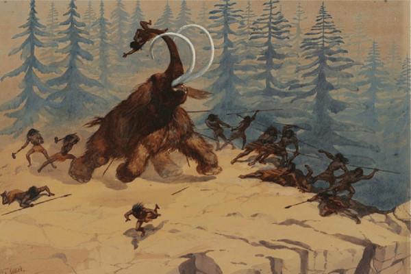 bracconieri di mammut: disegno