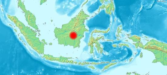 mappa Borneo Indonesiano