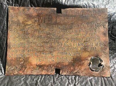 copia della placca di Francis Drake