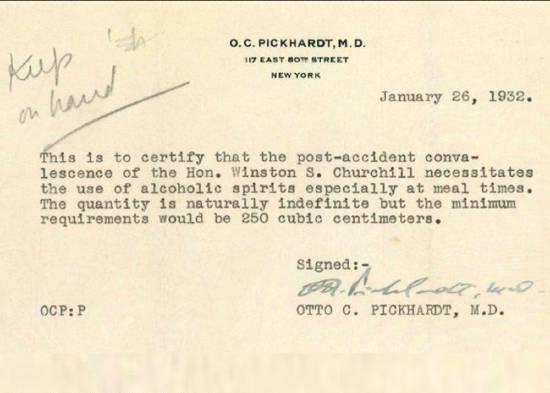 proibizionismo americano: ricetta di Churchill