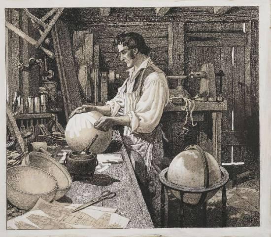 artigiano di mappamondi